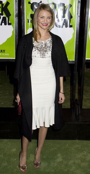 Cameron Diaz w płaszczu od Diora