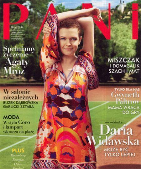 Daria Widawska w tunice Diane Von Furstenberg