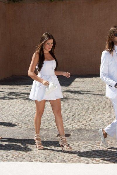 Khloe Kardashian w małej białej