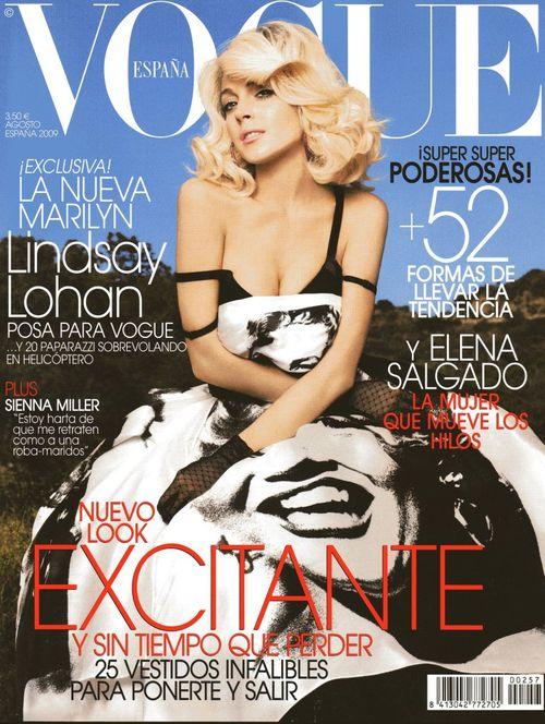 Lindsay Lohan na okładce Vogue'a