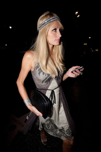 Paris Hilton i jej koronkowe pantofelki