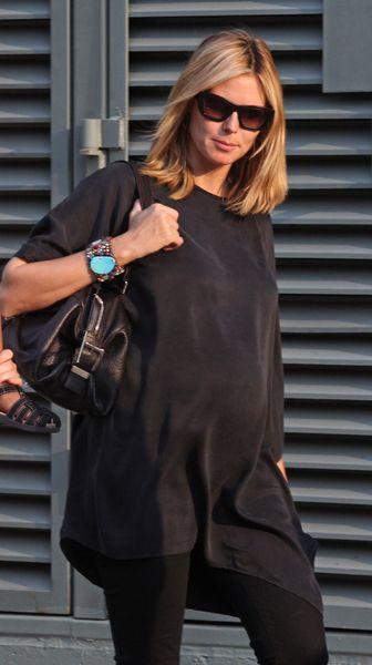 Heidi Klum: na luzie z brzuszkiem
