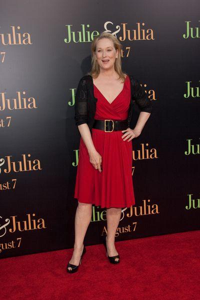 Czerwono-czarna Meryl Streep