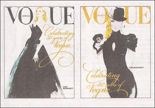 "Cate Blanchett na 50. urodziny ""Vogue'a""."