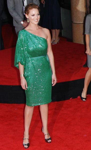 Katherine Heigl błyszczy w zieleni