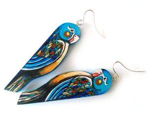 Kolczyki papużki Małgorzaty Lewińskiej