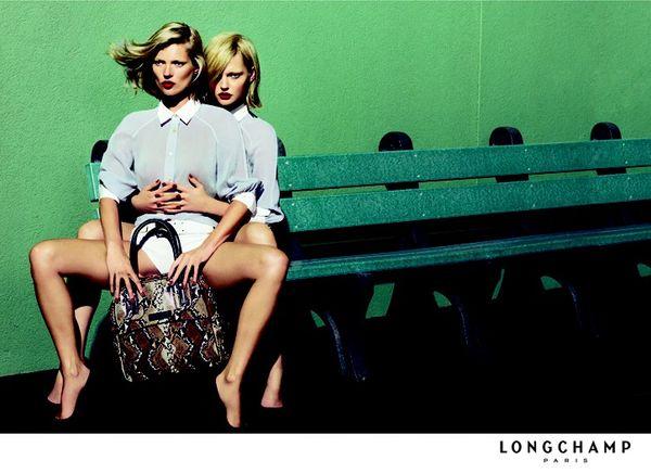 Kate Moss i Sasha Pivovarova dla Longchamp