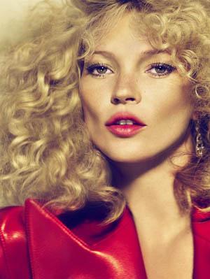 Piegowata Kate Moss w strojach od Prady