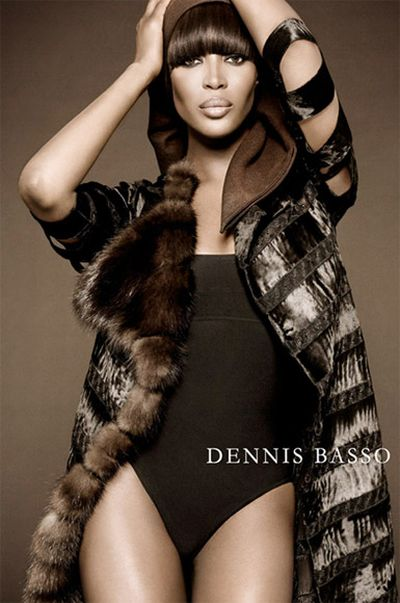 Naomi Campbell promuje futra
