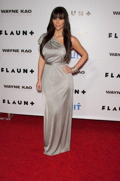 Kim Kardashian w srebrze