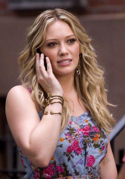 Hilary Duff: kwiatki i złoto
