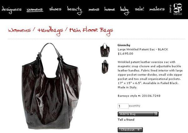 Wielkie, błyszczące torby