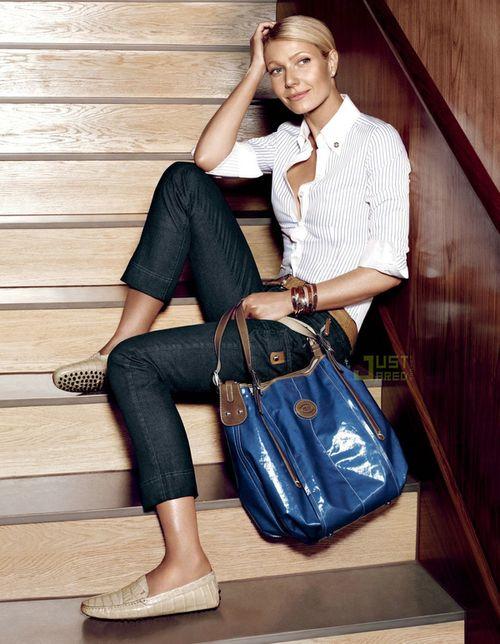 Gwyneth Partlow w reklamie toreb