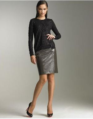 Trendy jesieni: skórzana spódnica