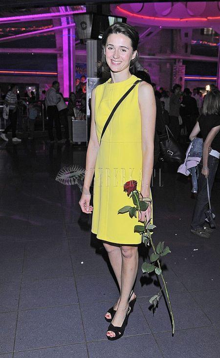 Agnieszka Grochowska na żółto