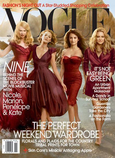 Cztery gwiazdy na okladce Vogue'a