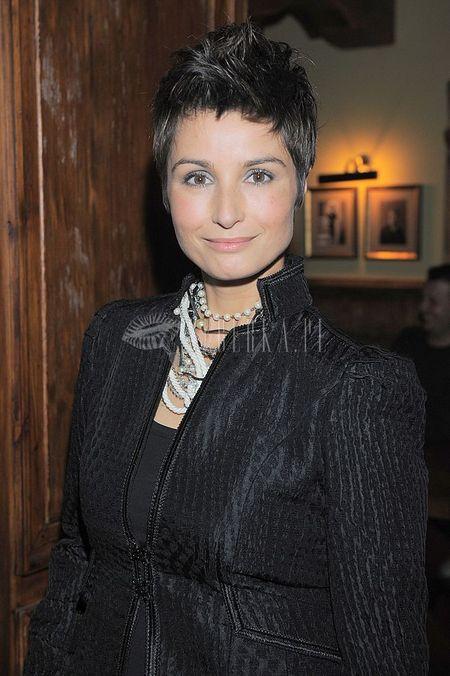 Joanna Brodzik nieco po męsku