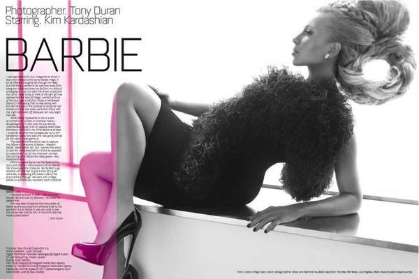 Kim Kardashian jako Lalka Barbie