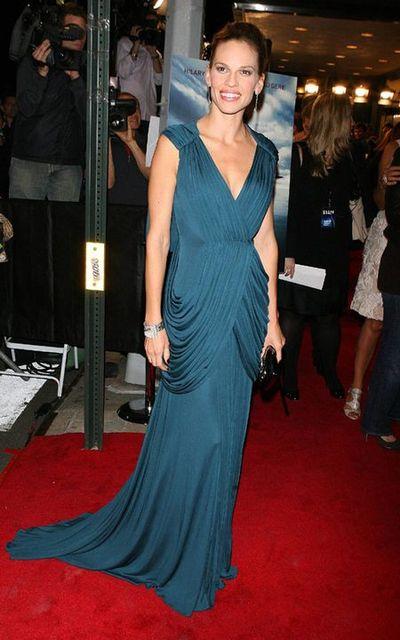 Hilary Swank zachwyciła w sukni Vionnet