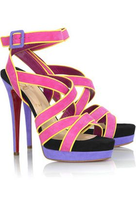 Kolorowe sandały od Christiana Louboutina