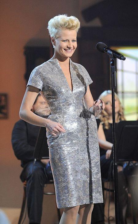 Małgorzata Kożuchowska w srebrze od Baczyńskiej