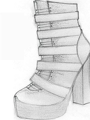 Szkice butów od Lindsay Lohan