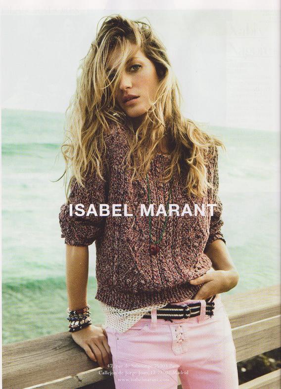 Gisele Bundchen w kampanii Isabel Marant