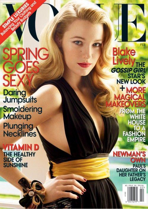 Blake Lively na okładce magazynu Vogue