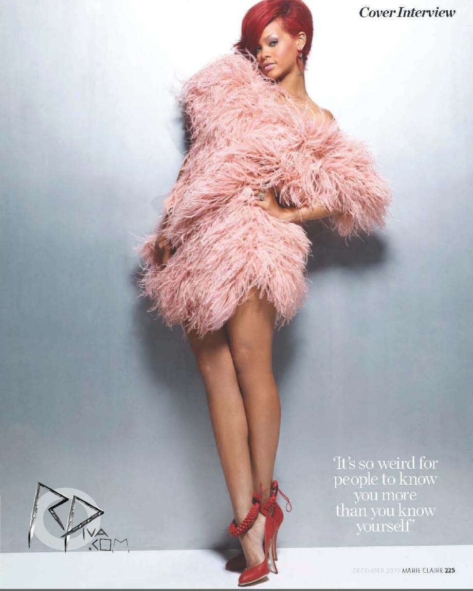 Rihanna w świątecznym Marie Claire
