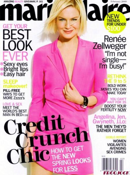 Renee Zelweger dla Marie Claire