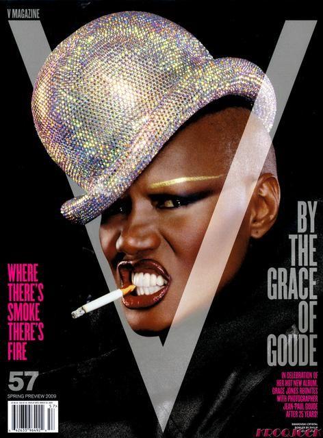 """Groźna Grace Jones dla """"V"""""""