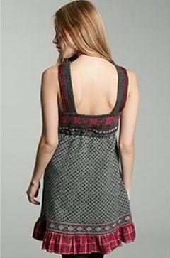 Wełniana sukienka w stylu folk