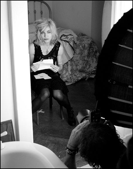 Madonna dla Dolce & Gabbana - foto zza kulis