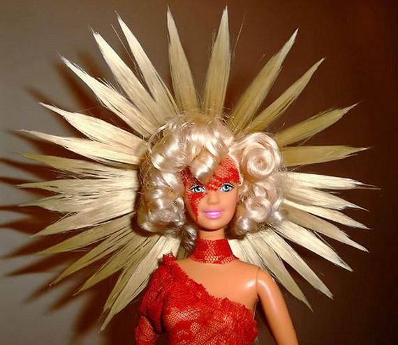 Lady GaGa jako Barbie.