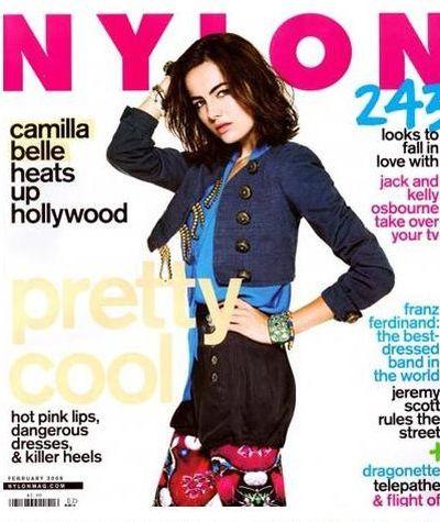 "Camilla Belle na okładce magazynu ""Nylon"""
