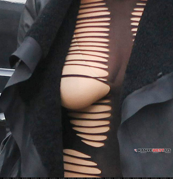 Amber Rose na pokazie mody Junya Watanabe