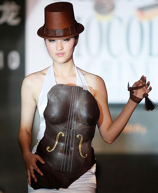 Czekoladowy pokaz mody w Szanghaju