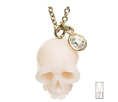 Naszyjnik w kształcie czaszki