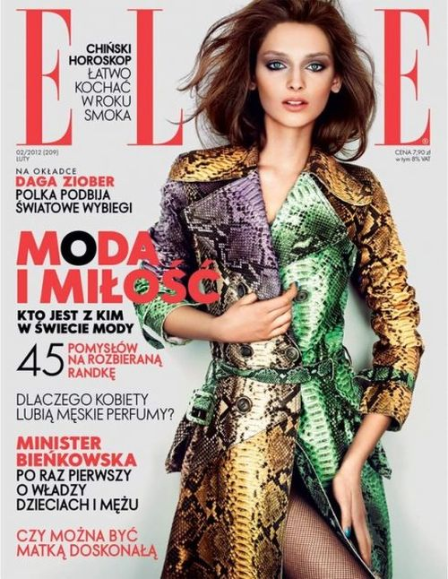 Daga Ziober na okładce Elle (FOTO)