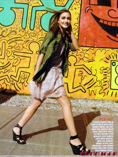 Leighton Meester na okładce magazynu Nylon