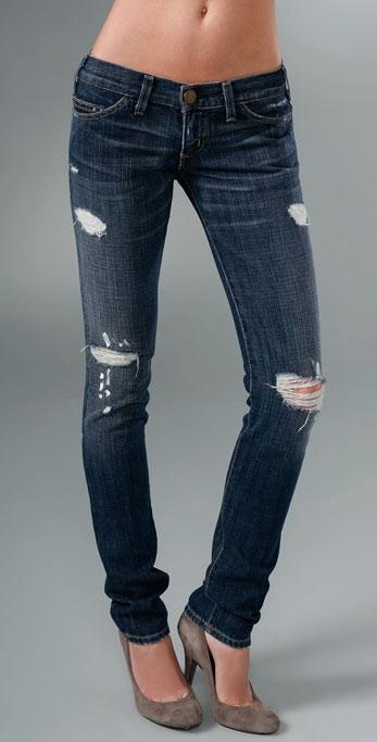 Dziurawe spodnie - glam na zimę