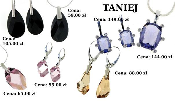 Drożej-taniej: kryształowa biżuteriaę