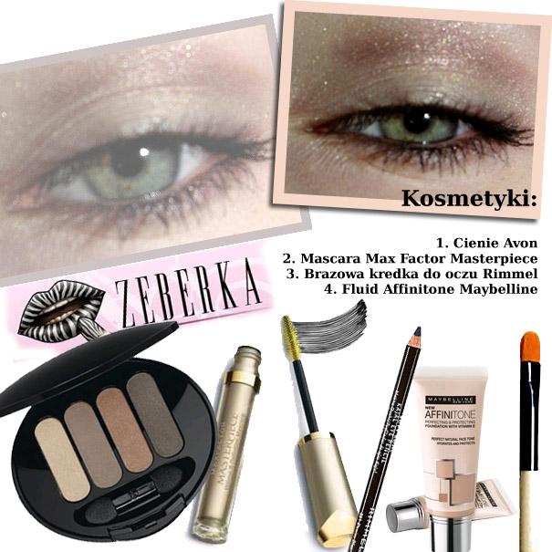 Brązowy makijaż oka
