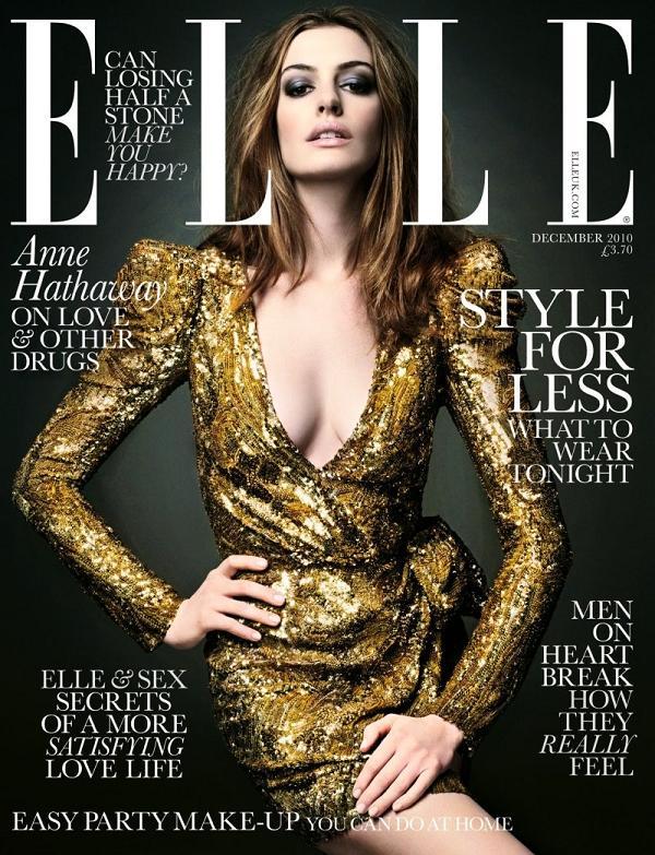 Anne Hathaway na okładce Elle