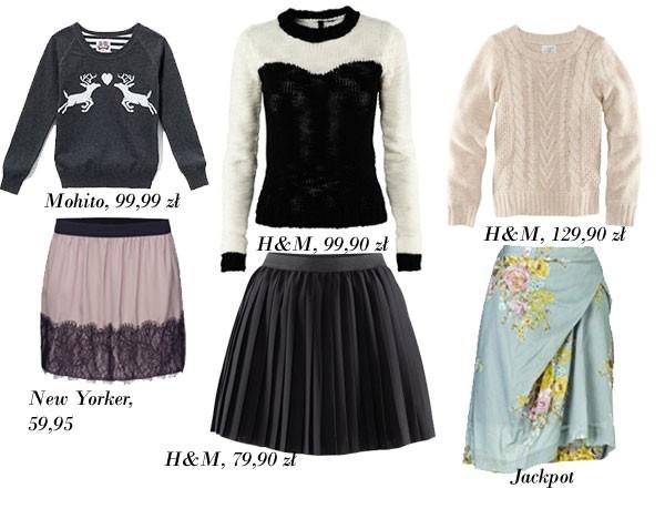 Trend: spódniczka i sweterek