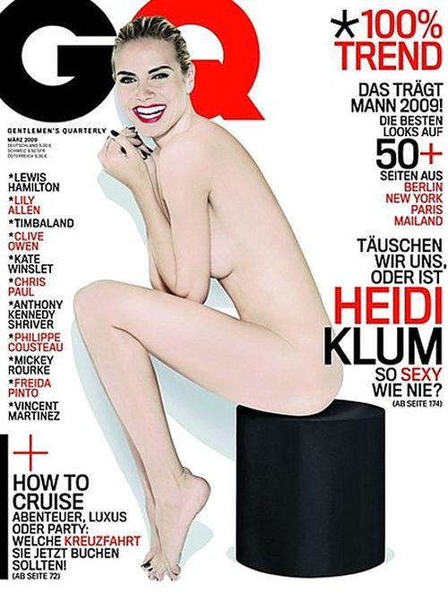 Naga Heidi Klum na okładce GQ