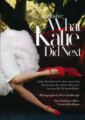 Sesja Victorii Beckham i Katie Holmes - przypadek?