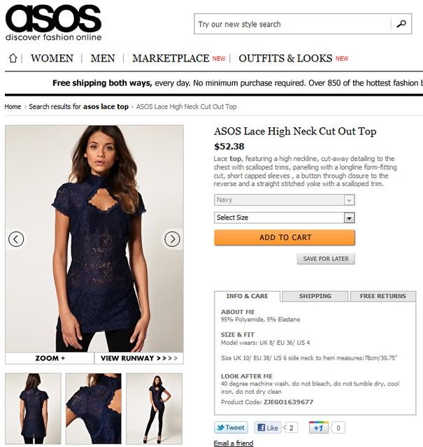 Lea Michele w niedrogiej bluzce Asos
