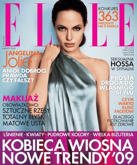 Angelina Jolie na okładce Elle