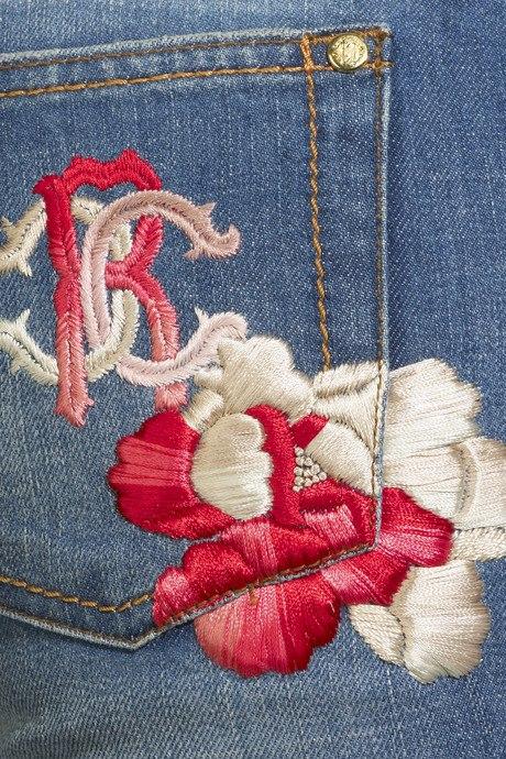 Dżinsy z haftem Roberto Cavalli